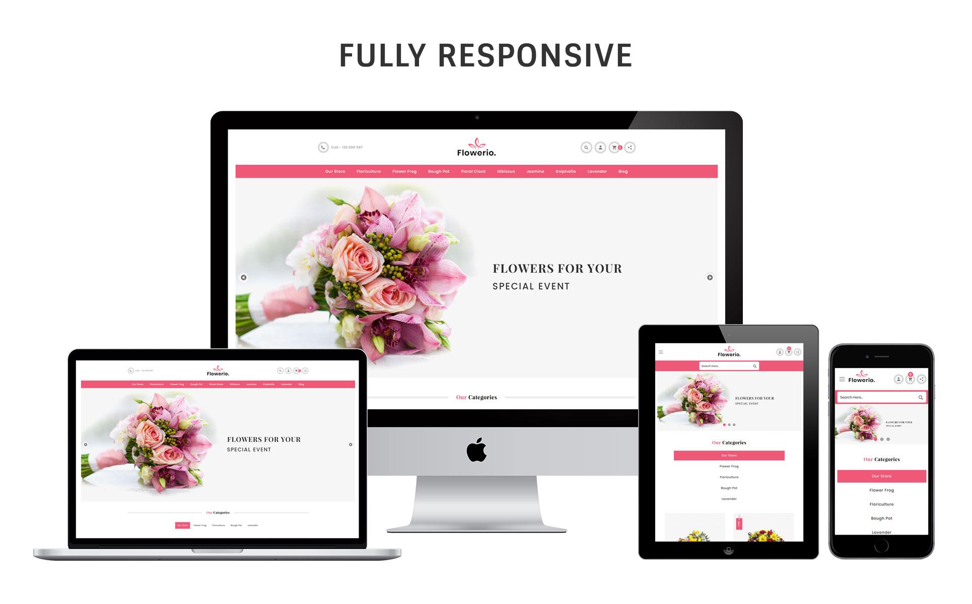 Flowerio OpenCart Theme