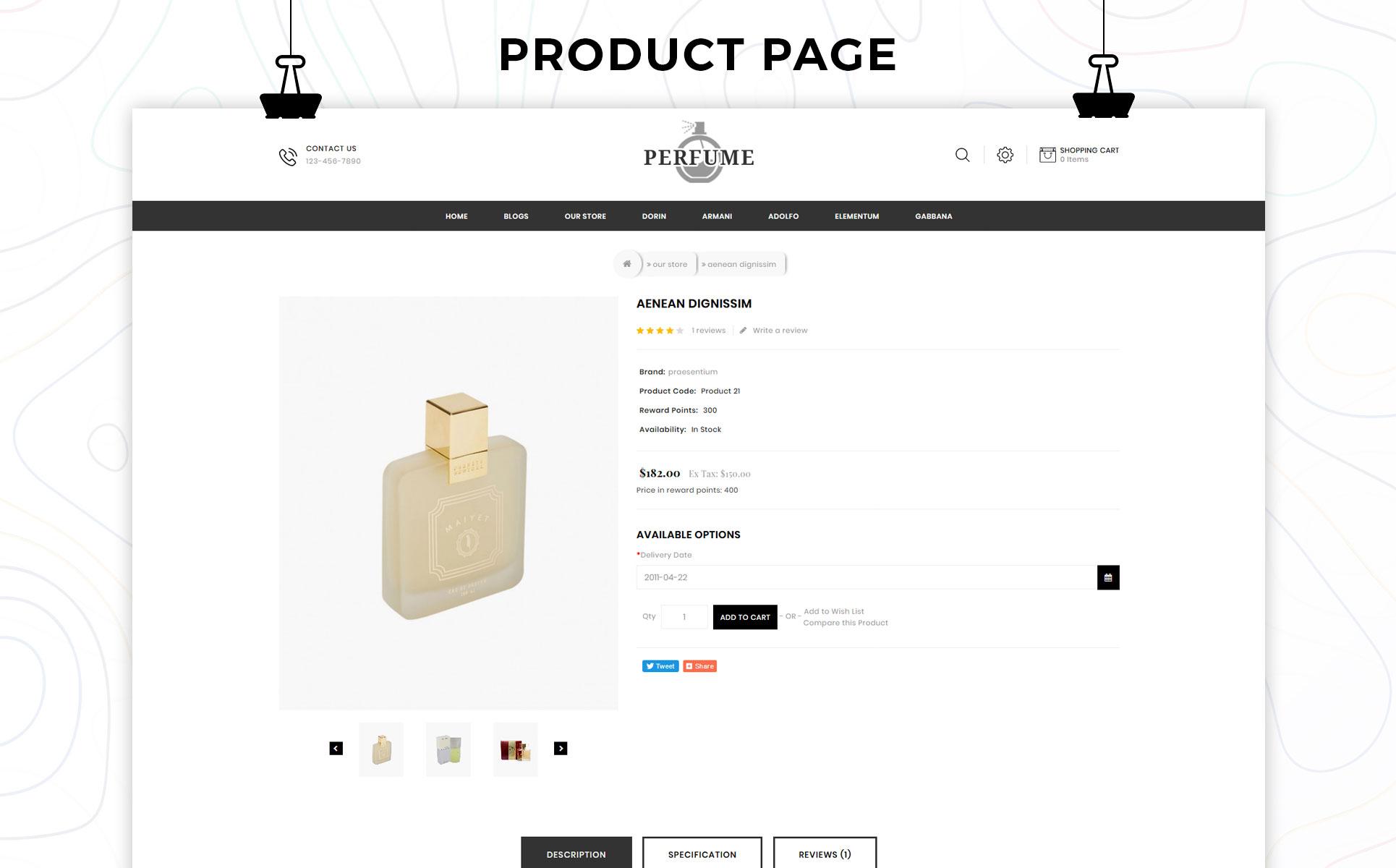 Perfume OpenCart Theme