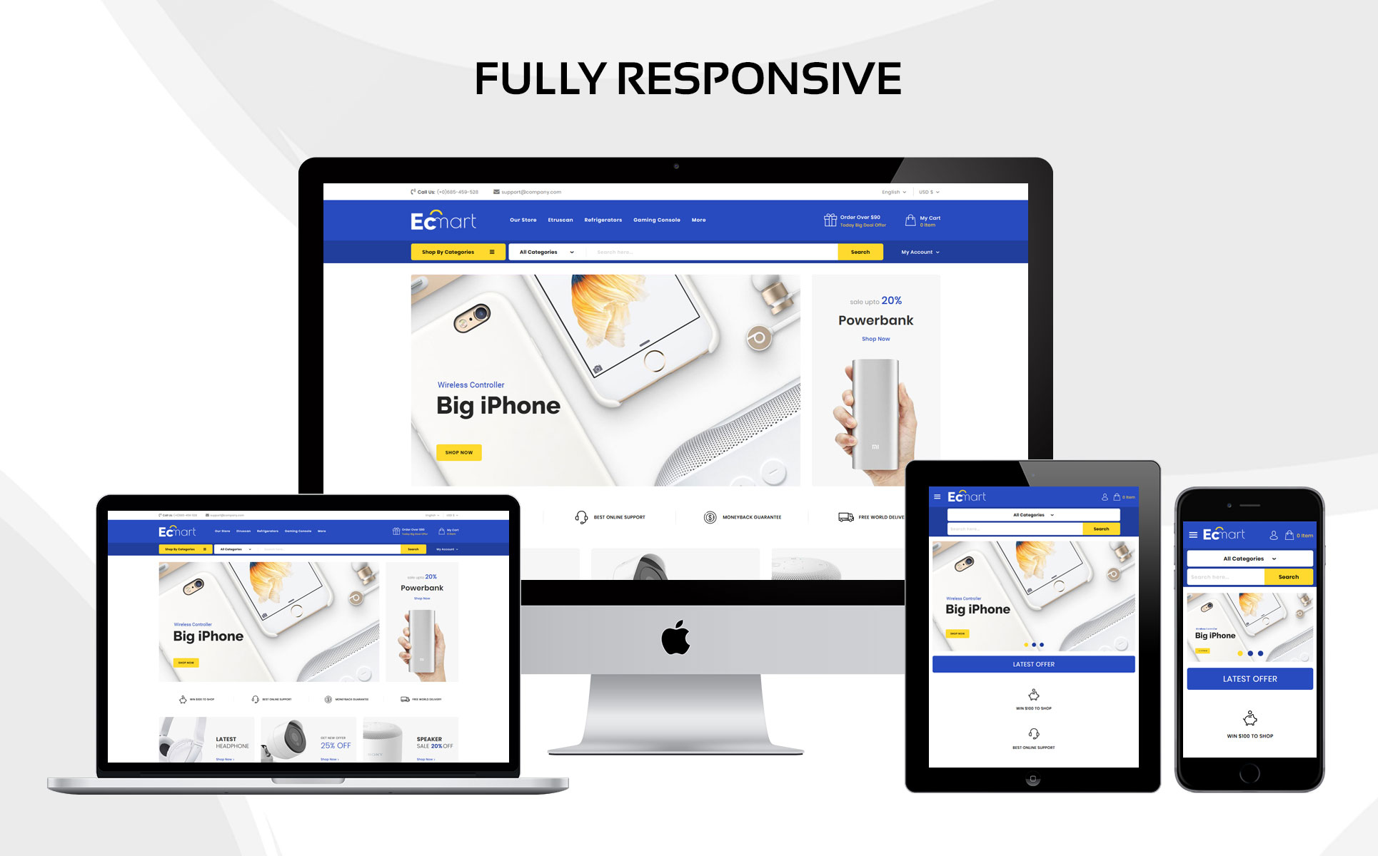 Ecmart - The Mega Electronic Store Responsive PrestaShop Theme