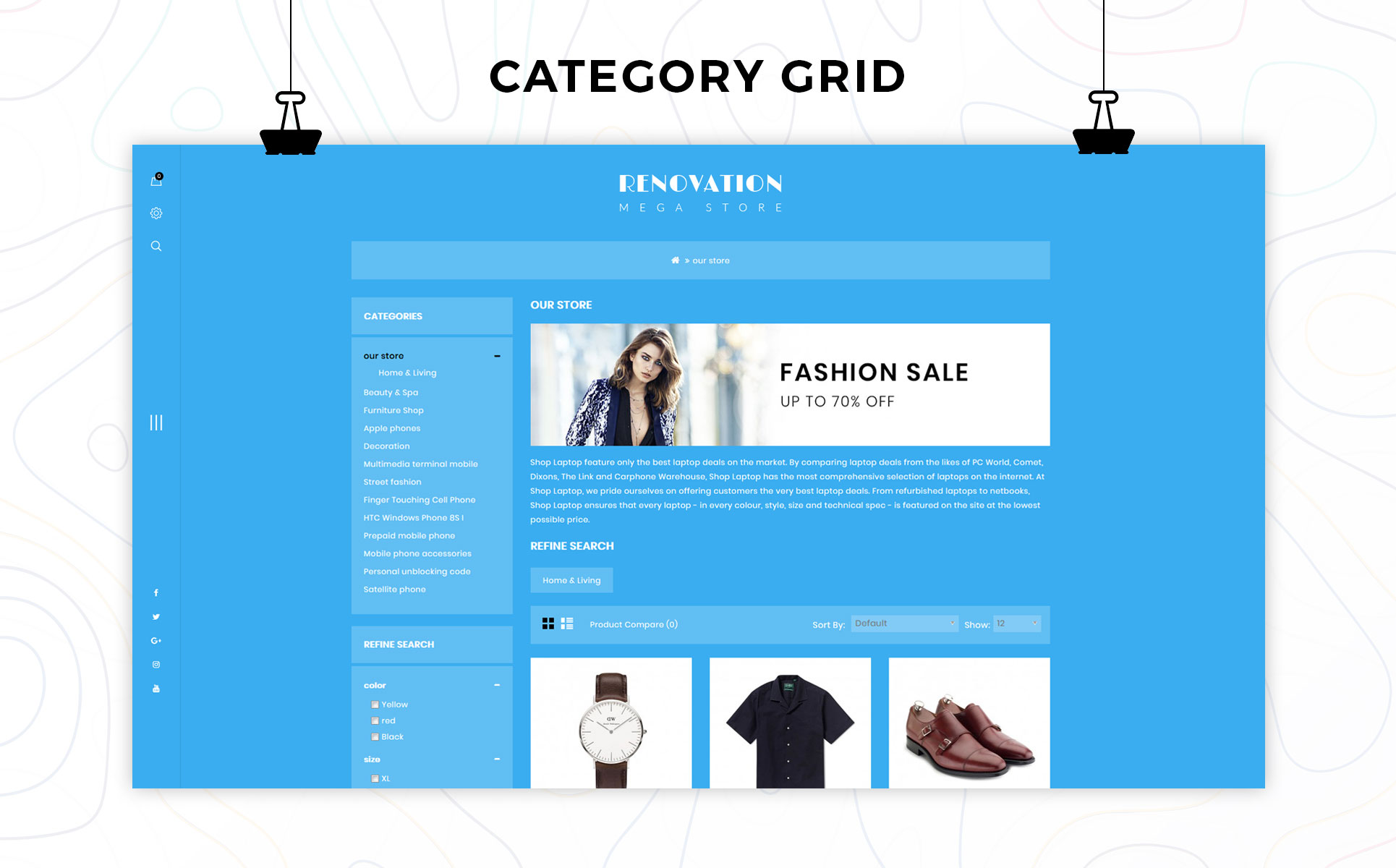 Renovation - The Mega Store Responsive OpenCart Template