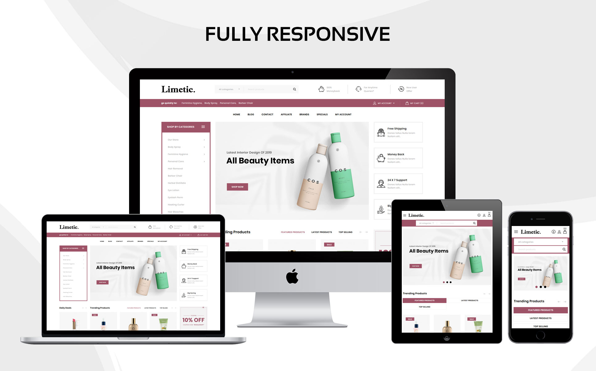 Limetic - The Cosmetic Store OpenCart Template