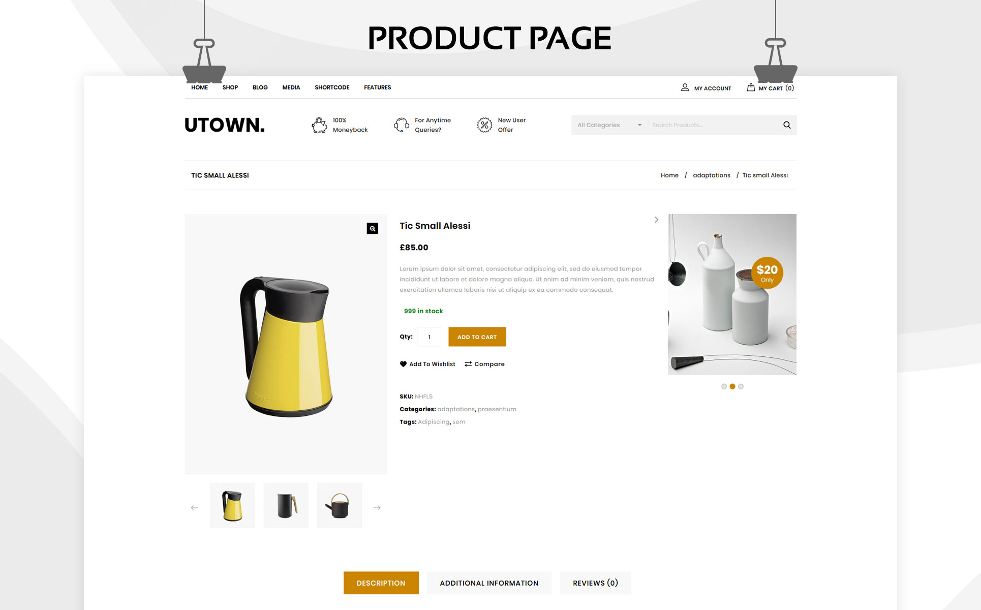 Utown - The Mega Kitchen Store Premium WooCommerce Theme