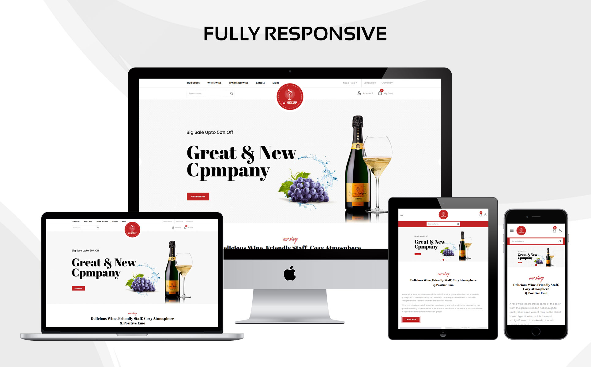 Winecup - The Alchohol Store OpenCart Template