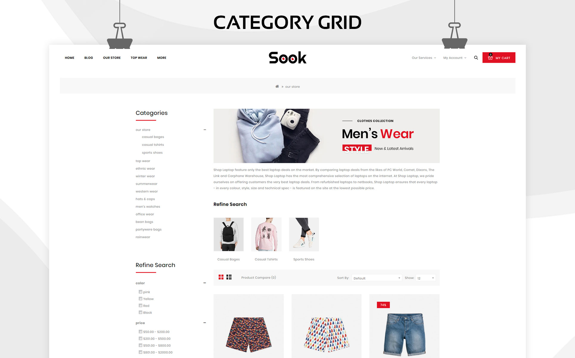 Sook - The Fashion hub OpenCart Template