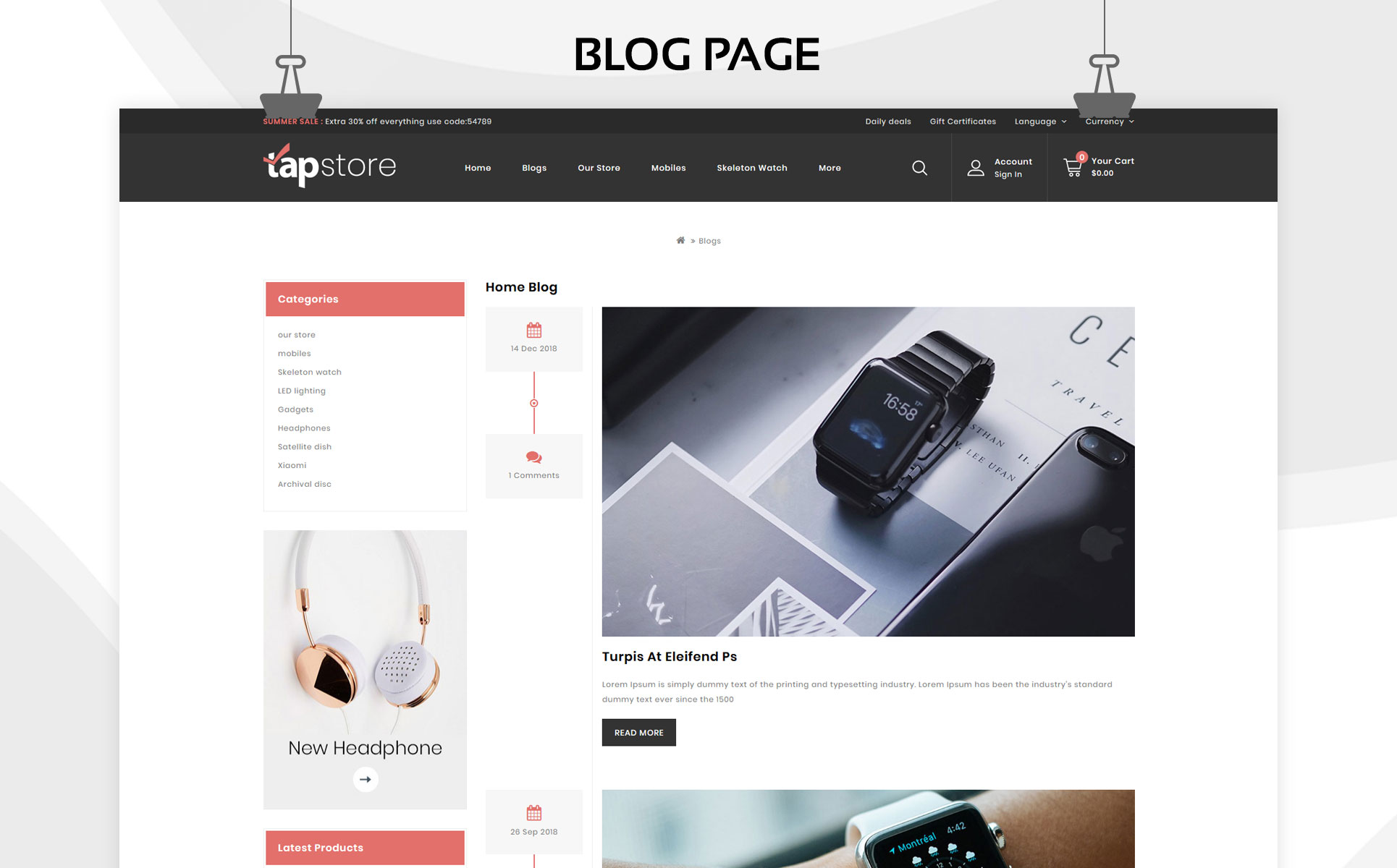 Tapstore - The Electronic Store OpenCart Template