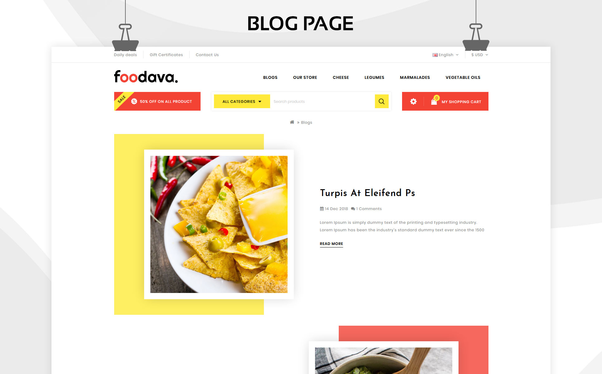 Foodava - The food Store OpenCart Template