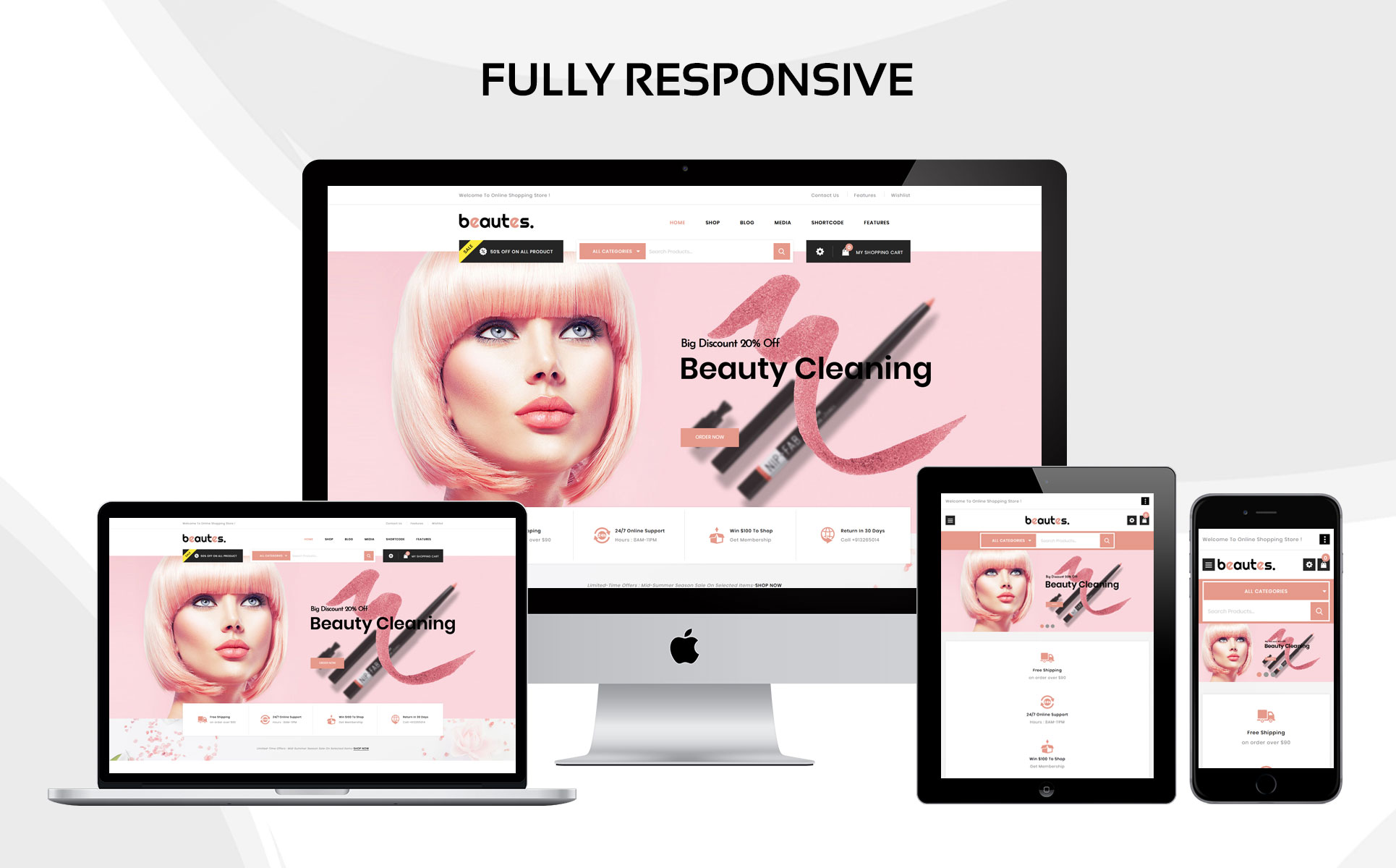 Beautes - The Mega Cosmetic Store WooCommerce Theme