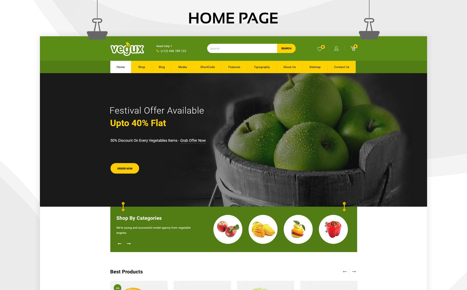 Vegux - The Mega Grocery Store WooCommerce Theme