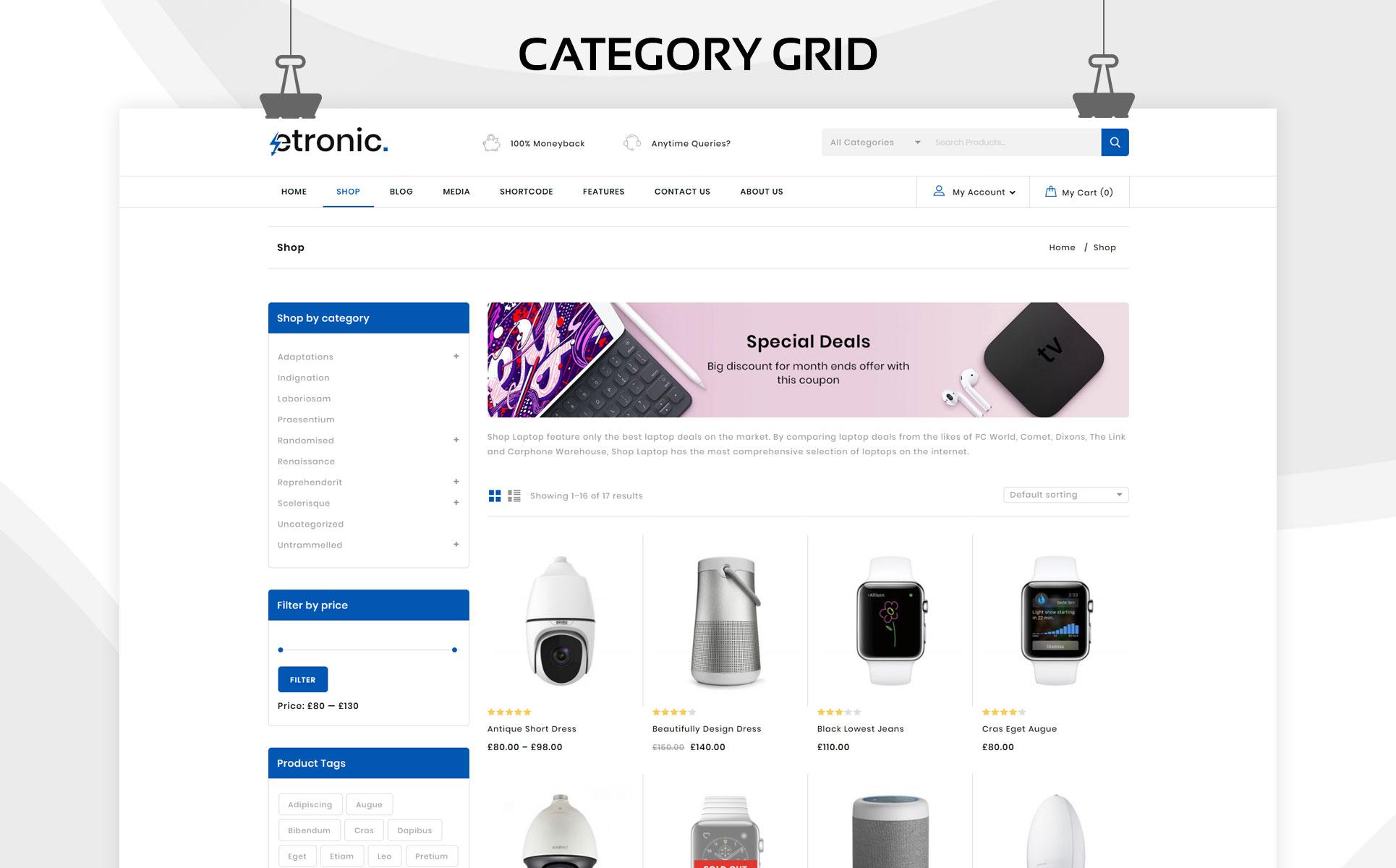 Etronic - The Mega Electronic Store WooCommerce Theme