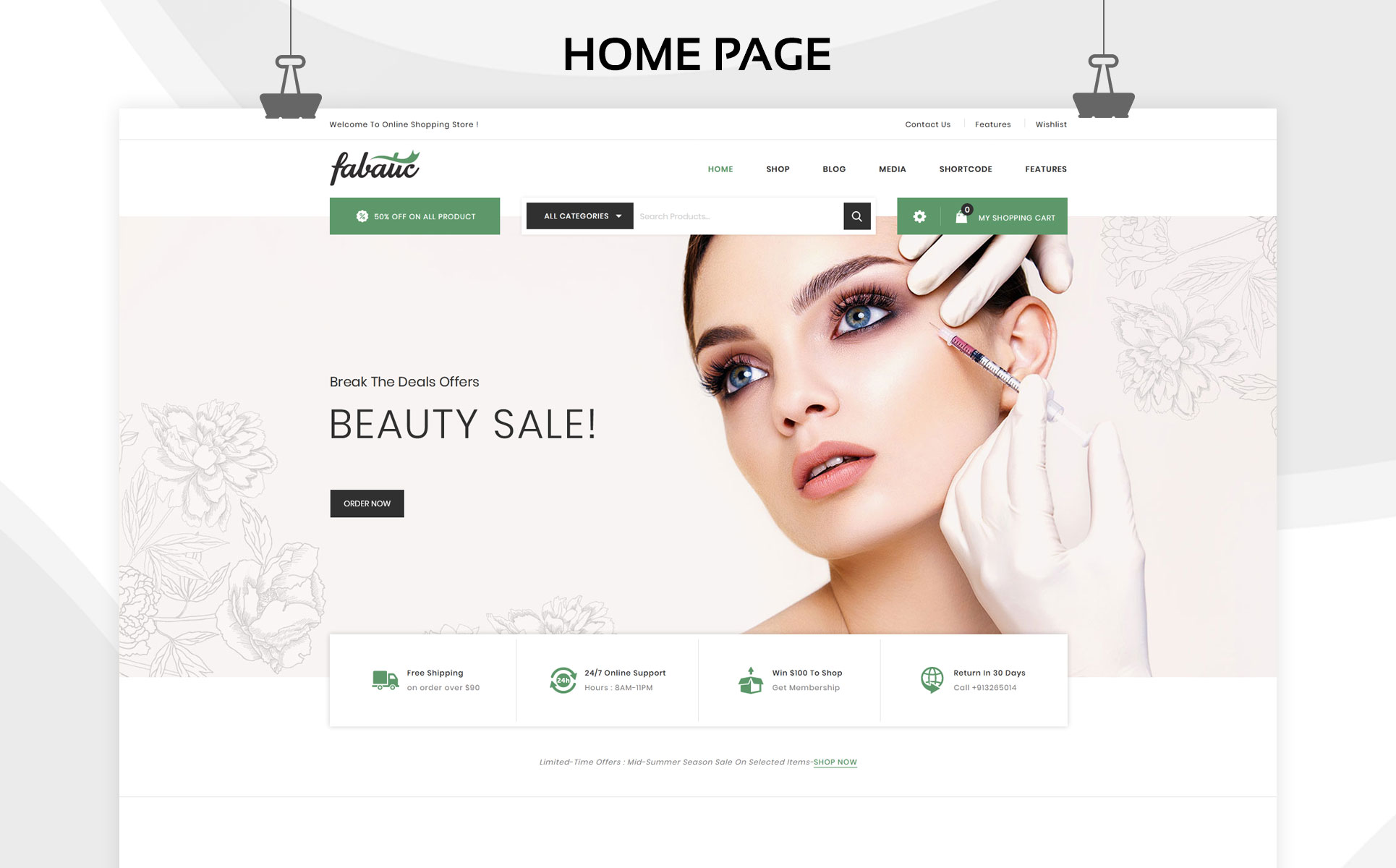 Fabatic - The Premium Cosmetic Store WooCommerce Theme