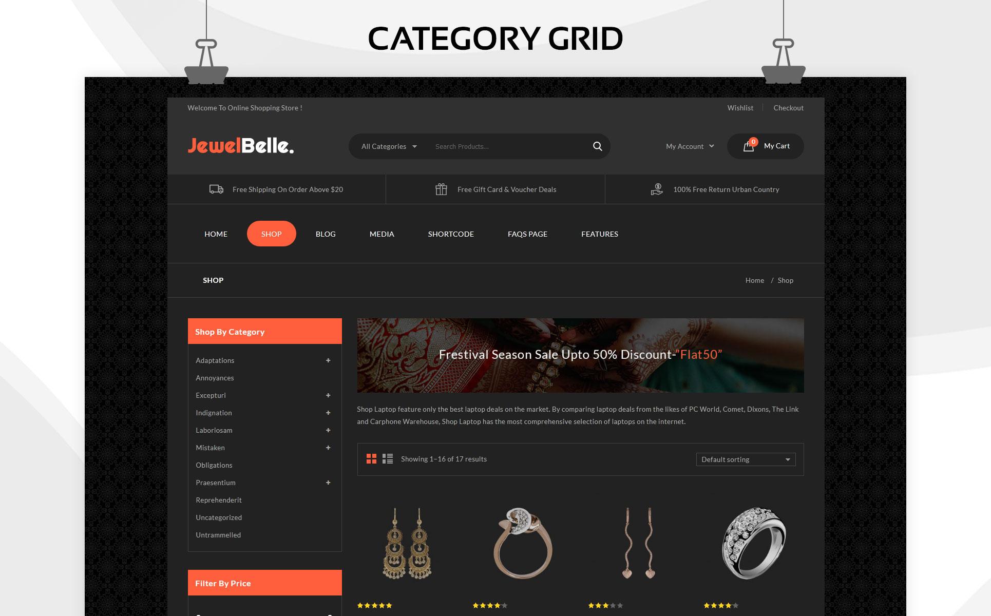 Jewelbelle - The Mega Jewelry Store WooCommerce Theme