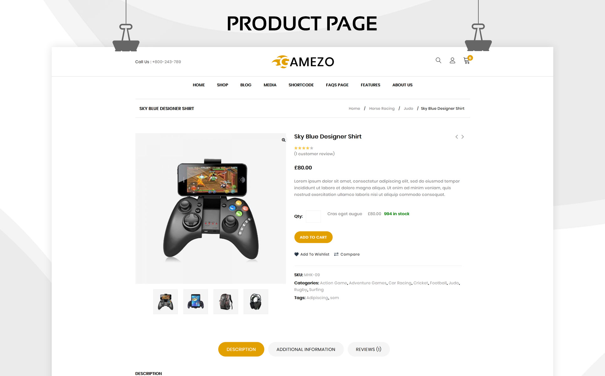 Gamezo - The Branded Gaming WooCommerce Theme