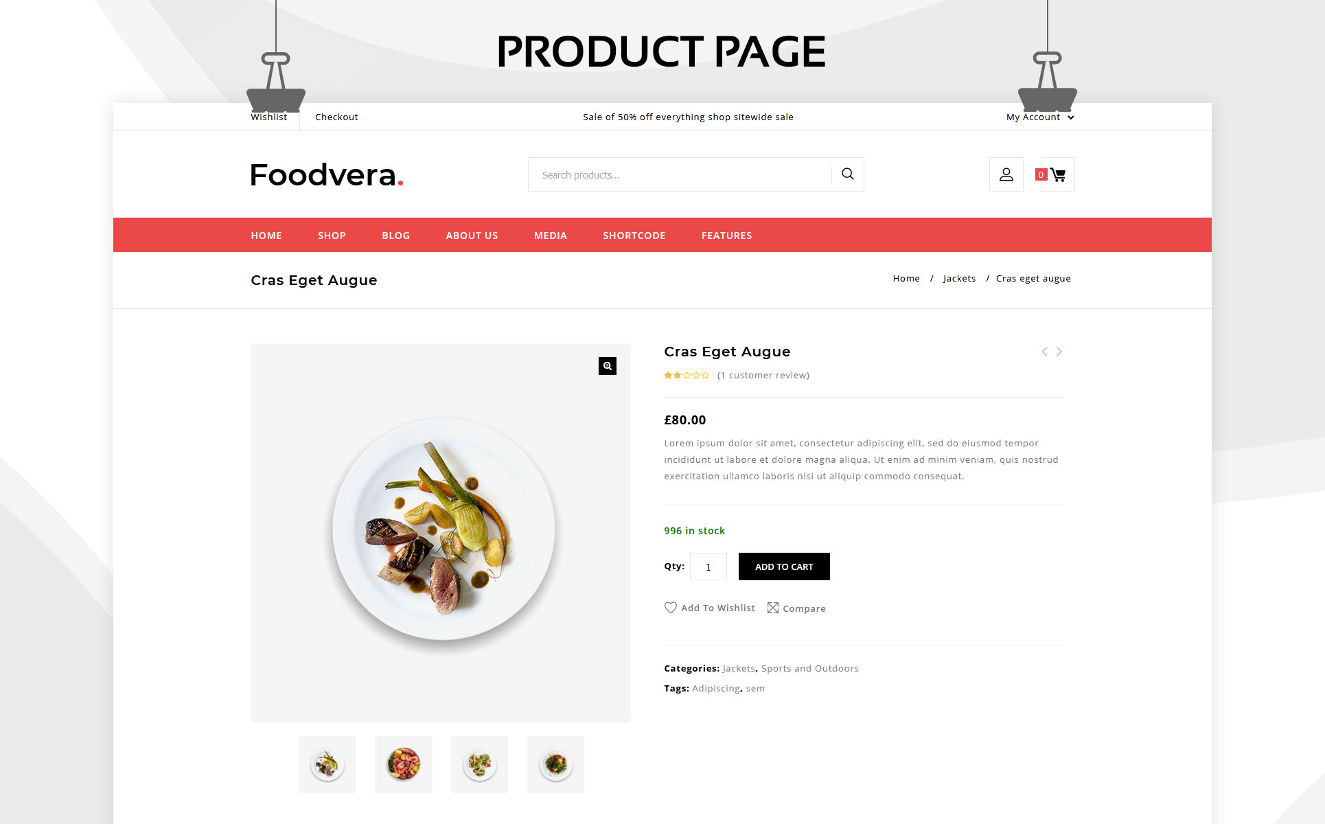 Foodvera - The Fast Food & Restaurant Store WooCommerce Theme
