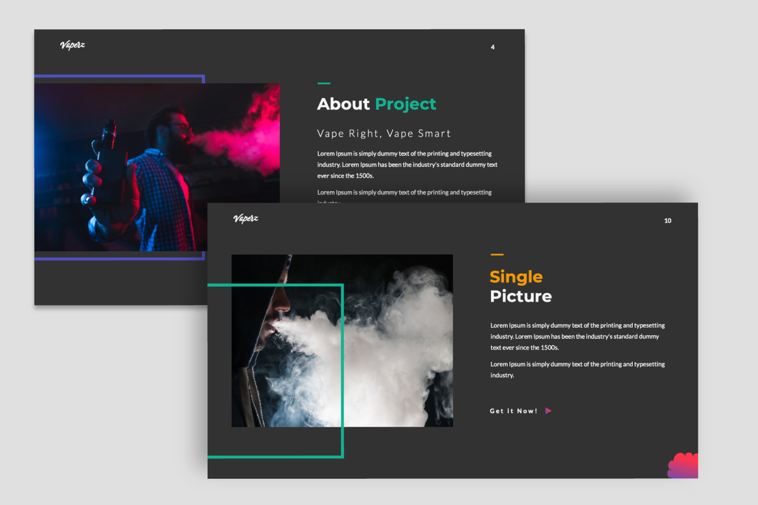 Vaperz PowerPoint Template
