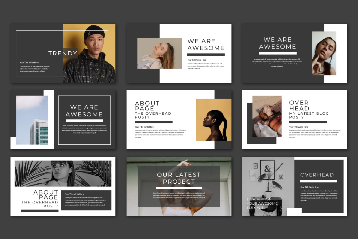 OVERHEAD Presentation PowerPoint Template