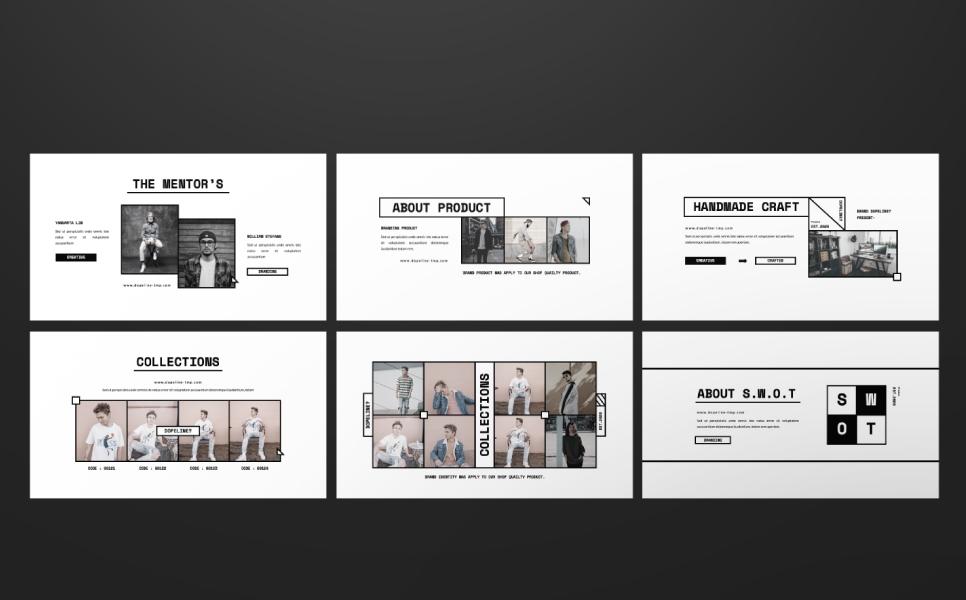 DOPELINE Brand Presentation PowerPoint Template