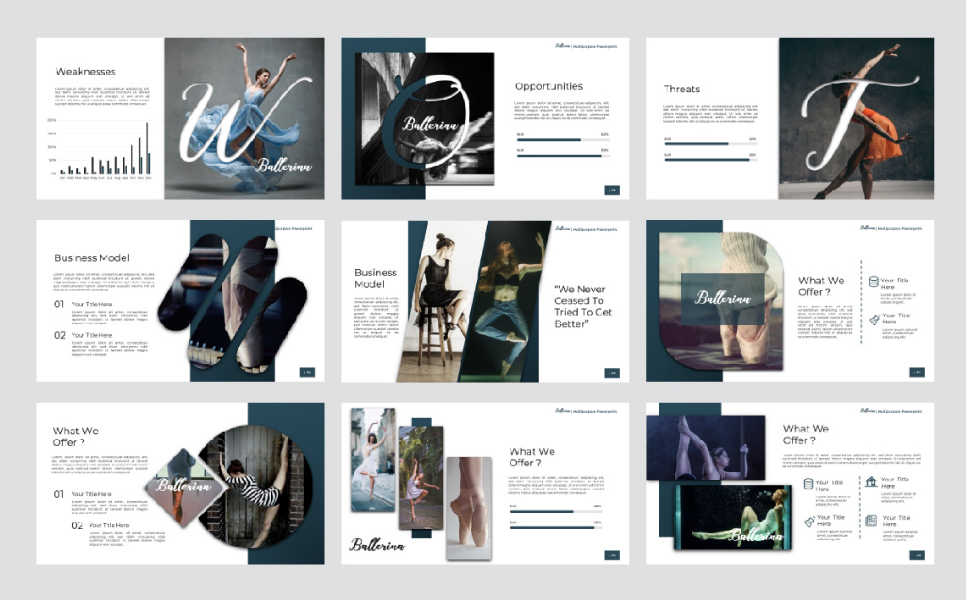 Ballerina Presentation PowerPoint Template