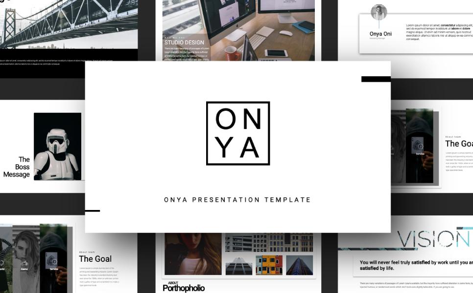 ONYA MINIMAL PowerPoint Template