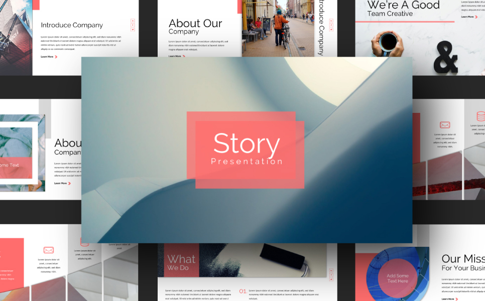 Story Presentation PowerPoint Template