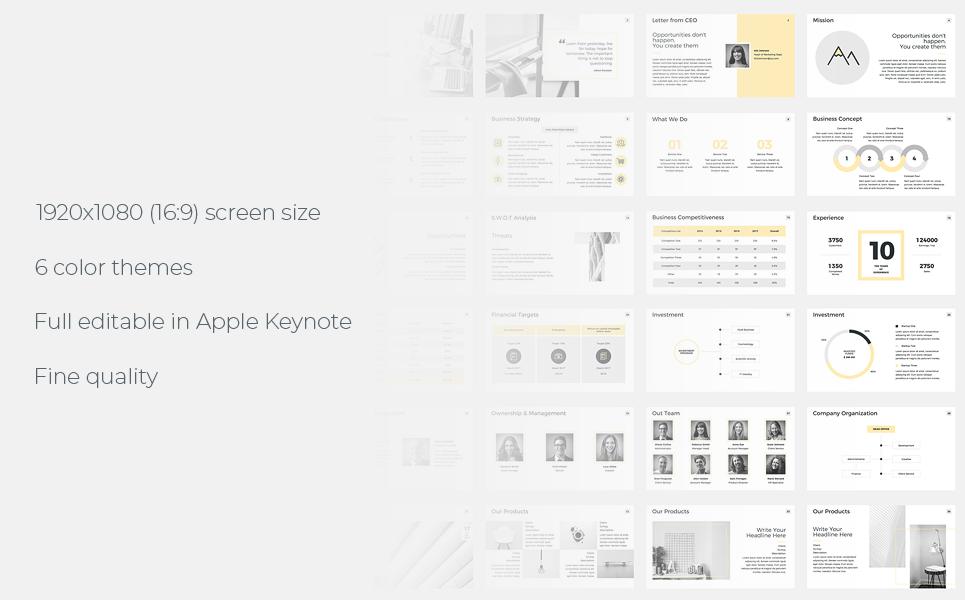 Company Profile Presentations Keynote Template