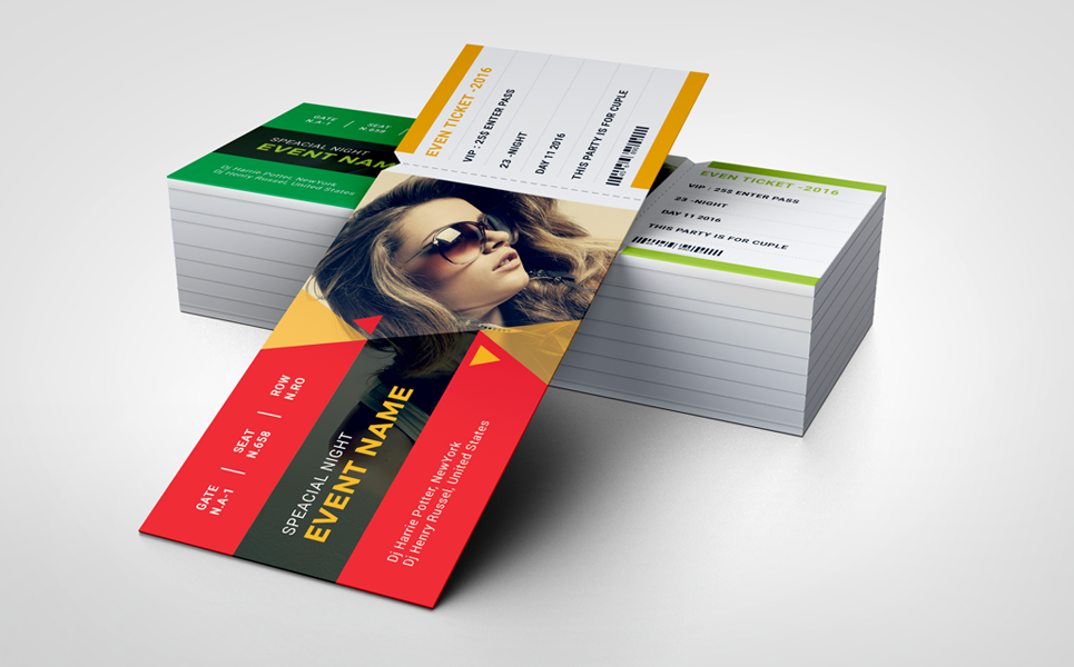 Special Night _ Event Ticket Corporate Identity