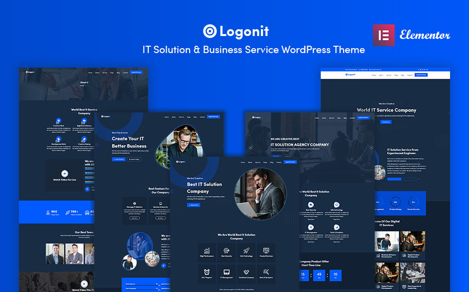 Logonit - IT Solutions & Business Service WordPress Theme