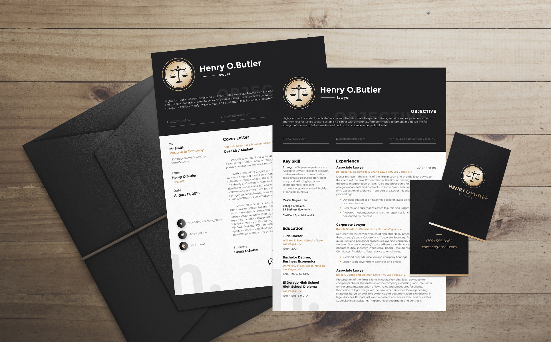 Henry O. Butler - Lawyer Resume Template