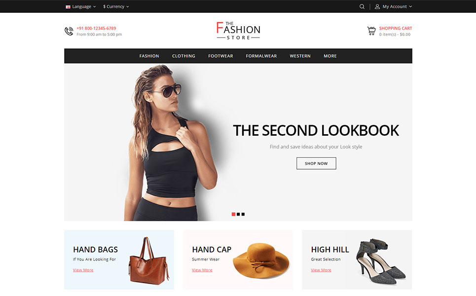 The Fashion Store OpenCart Template