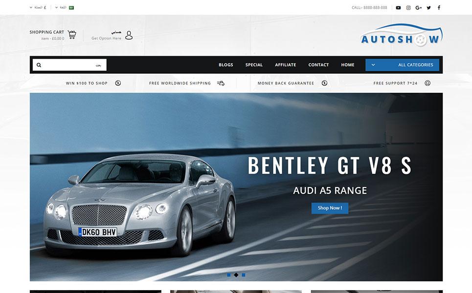 Auto Show - Auto Parts Store OpenCart Template
