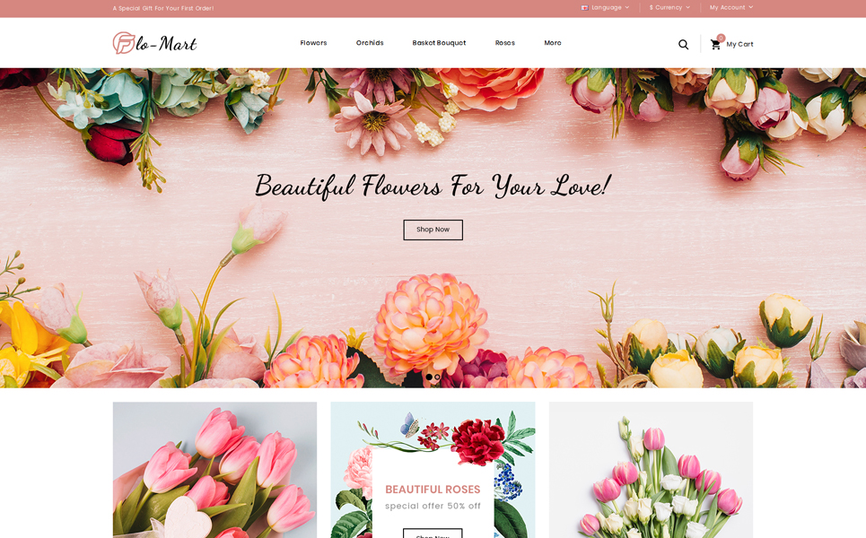FloMart Flowers Shop OpenCart Template