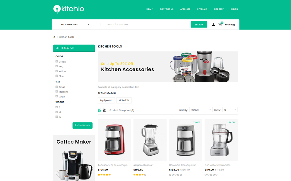Kitchio - Kitchen Store OpenCart Template