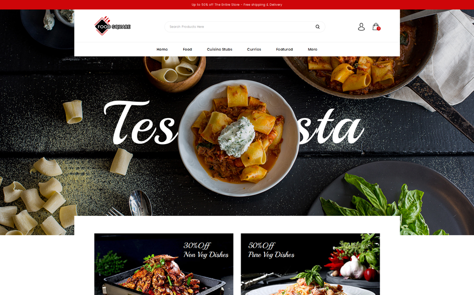 Food Square - Restaurant Store OpenCart Template