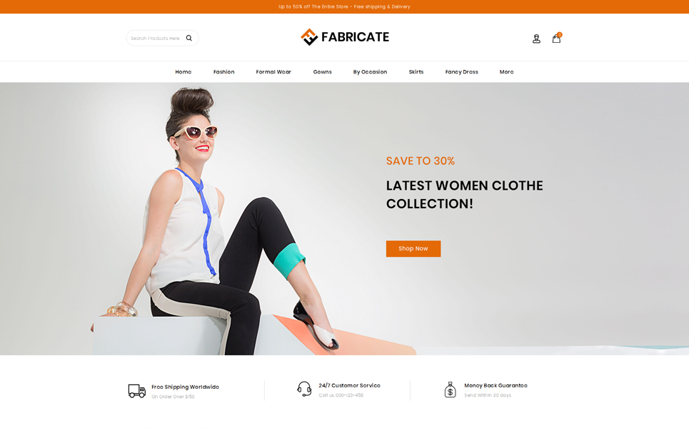 Fabricate - Unique Fashion Store OpenCart Template
