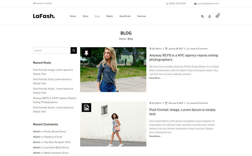 LaFash Multipurpose Store WooCommerce Theme