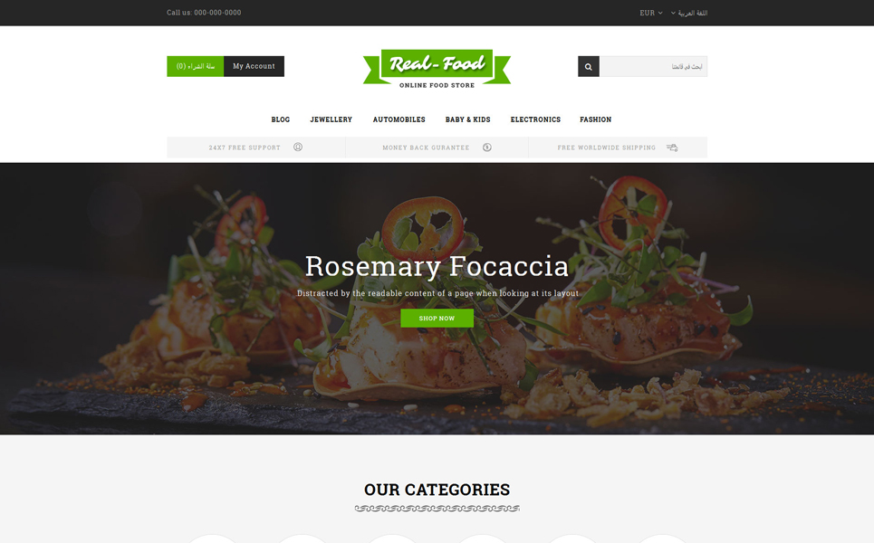Real Food - Restaurant Store PrestaShop Theme