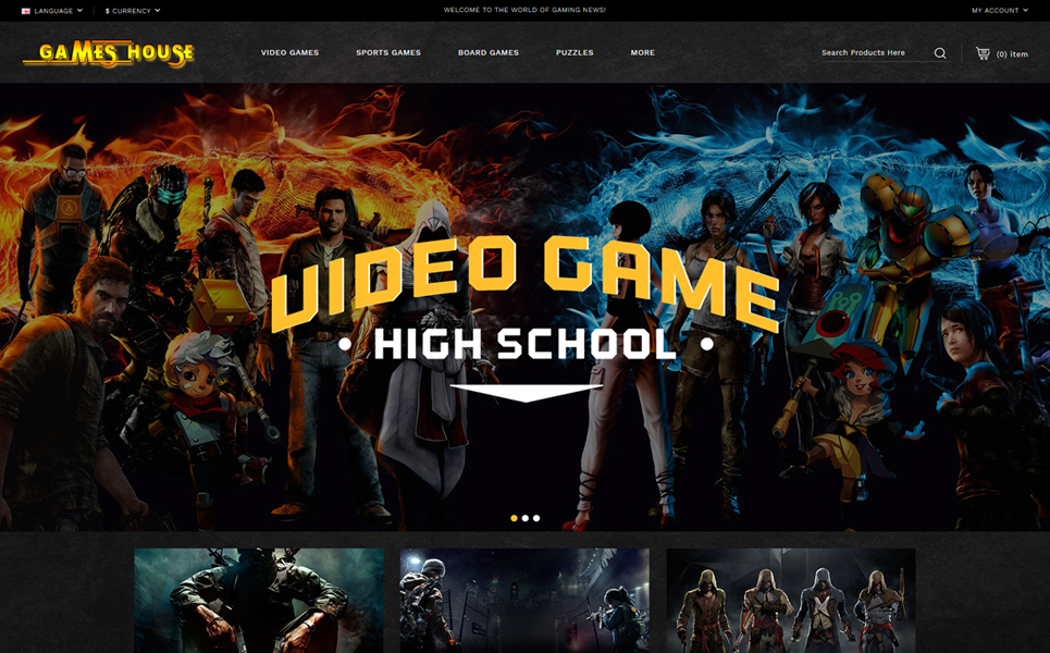 Video Games Store OpenCart Template