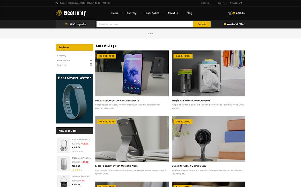 Electronly - Digital Store PrestaShop Theme
