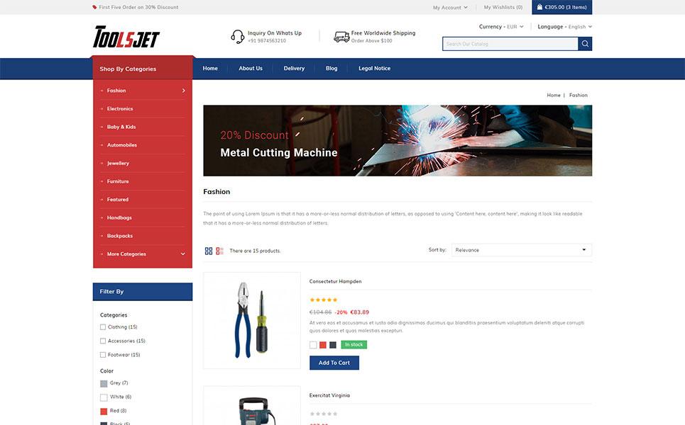 Toolsjet - Hardware Store PrestaShop Theme