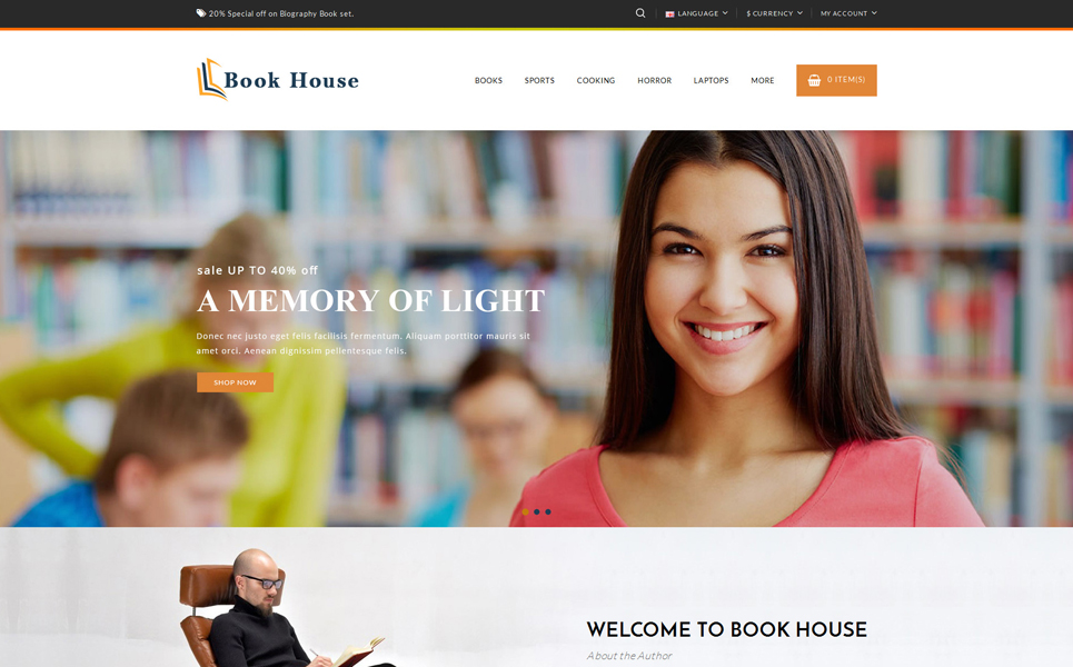Book House OpenCart Template
