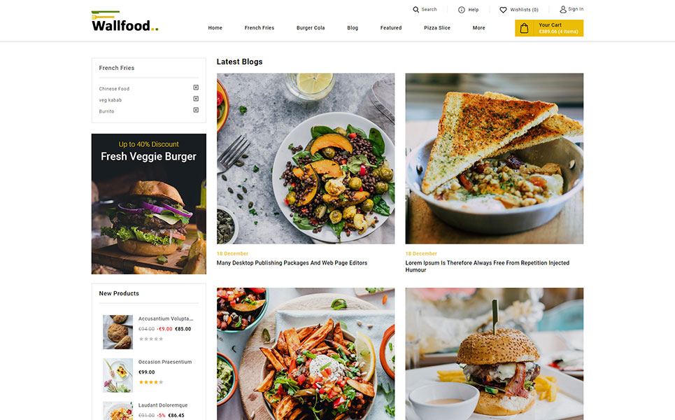 WallFood - Restaurant Store PrestaShop Theme