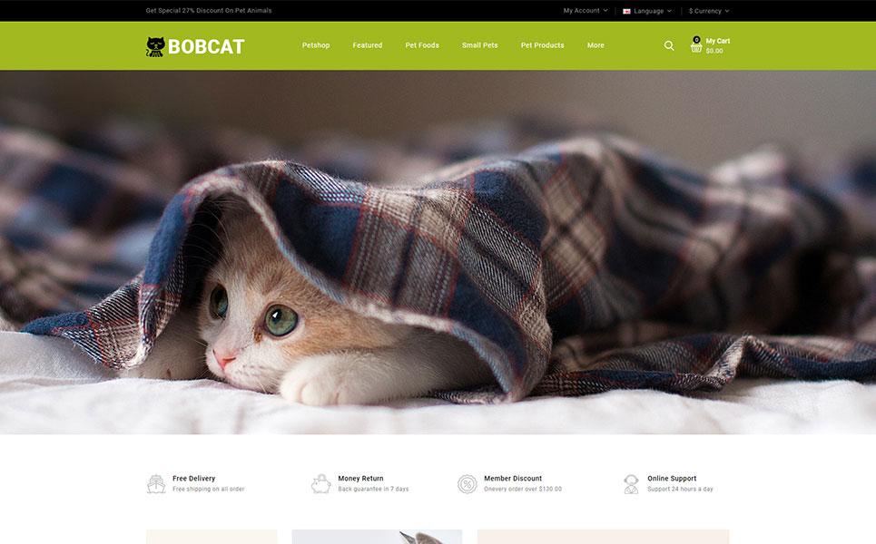 Bobcat - Pets & Animals Store OpenCart Template