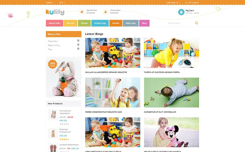Kulily - Kids Store PrestaShop Theme