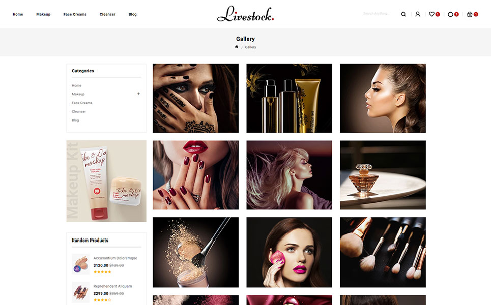LiveStock Cosmetic Store Shopify Theme