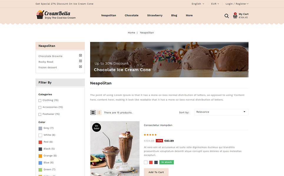 CreamBella - Ice Cream Shop PrestaShop Theme