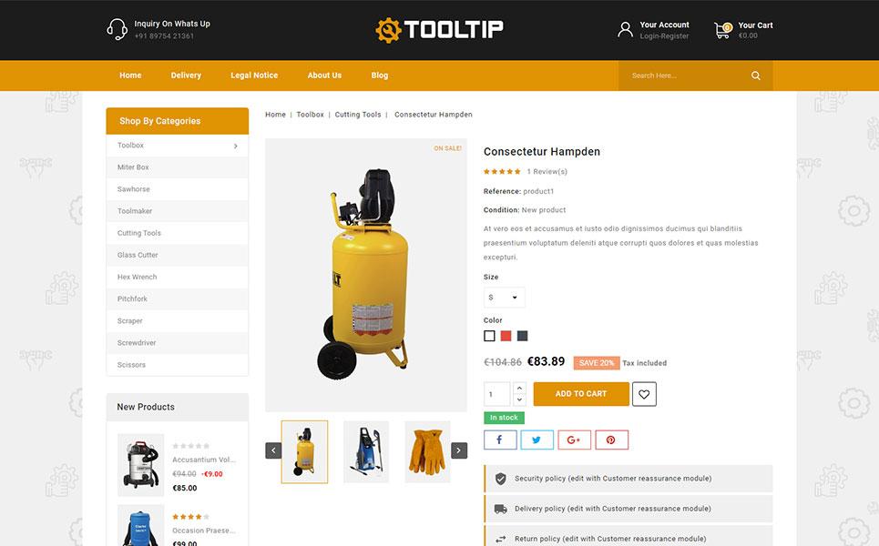 Tooltip - Hand Tool Store PrestaShop Theme