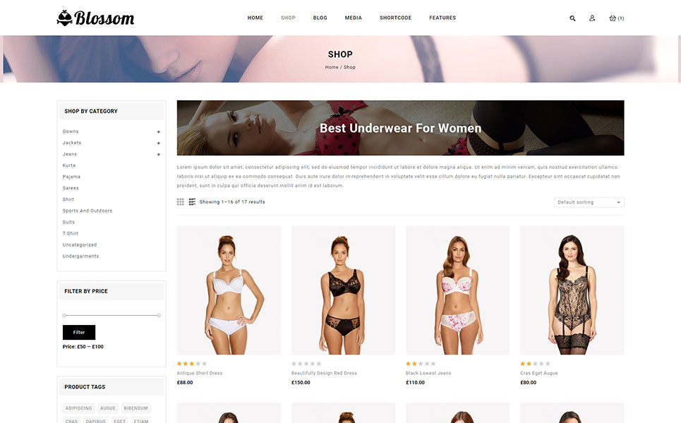 Blossom - Lingerie Store WooCommerce Theme