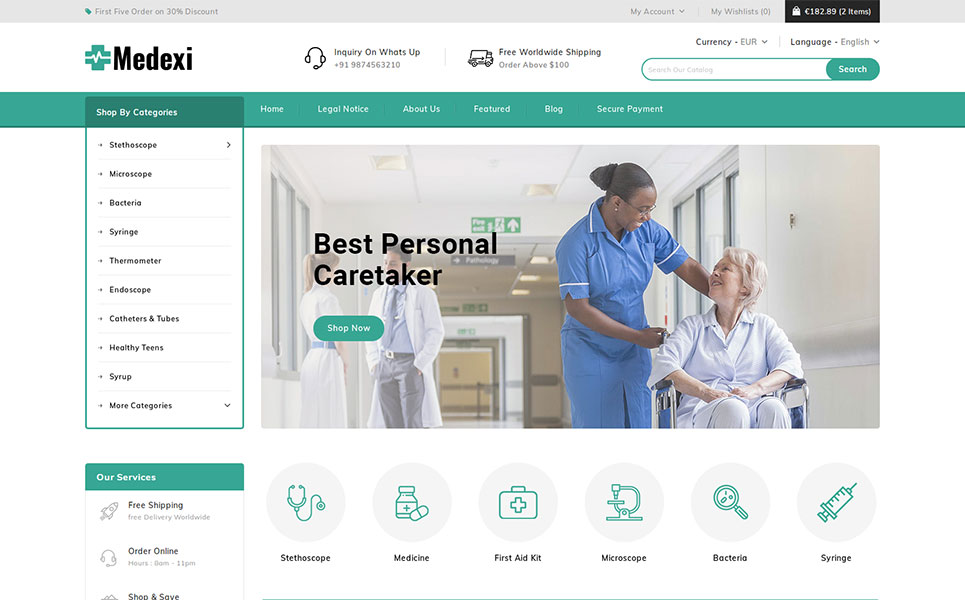 Medexi - Medical Store PrestaShop Theme