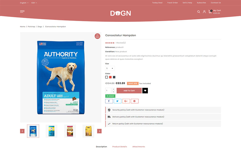 Dogn - Pet's Food Store PrestaShop Theme