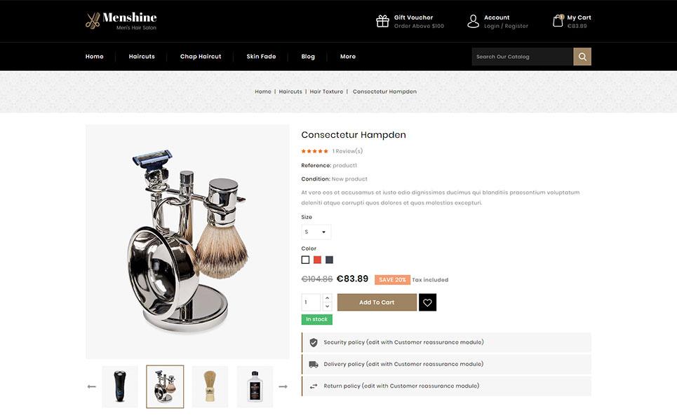 Menshine - Hair Salon Store PrestaShop Theme