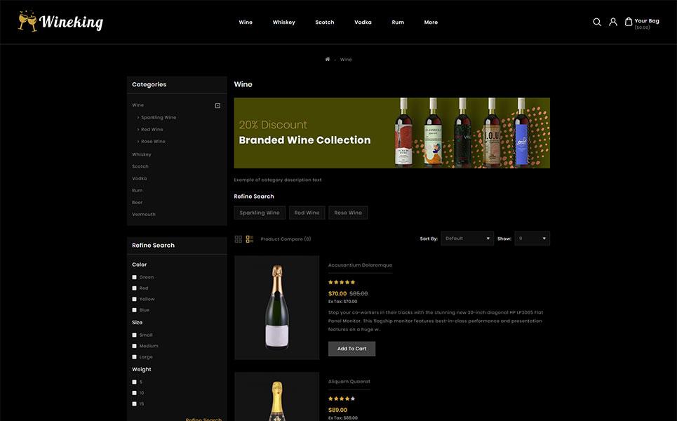 WineKing - Wine Store OpenCart Template